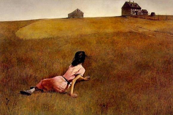 Andrew Wyeth.Christina's World.Pintura