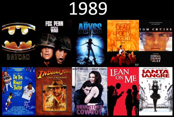 Melhores filmes.Cinematographe.1989