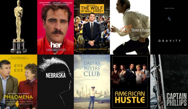 Indicados ao Oscar.Melhor filme.2014
