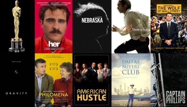 Melhores filmes.Oscar 2014