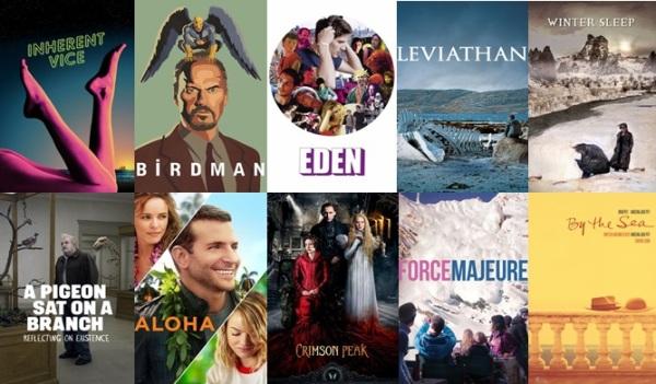 Melhores filmes de 2015.Cartazes