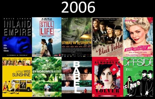 Melhores filmes.Cinematographe.2006