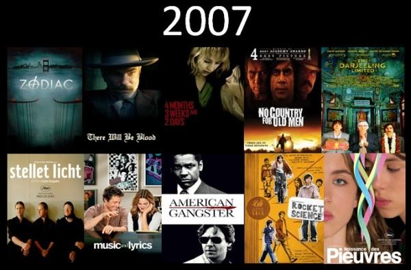 Melhores filmes.Cinematographe.2007