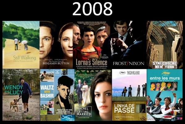 Melhores filmes.Cinematographe.2008